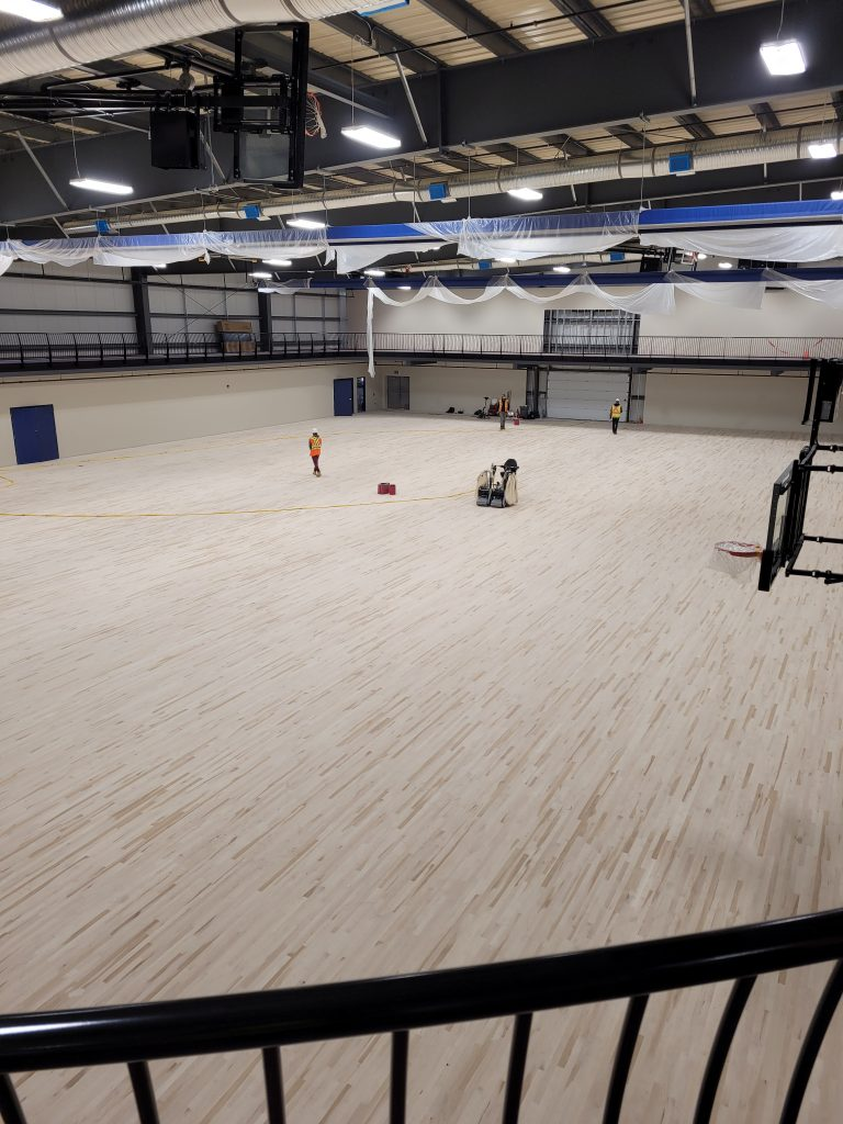 May 2021 Fieldhouse flooring is in!