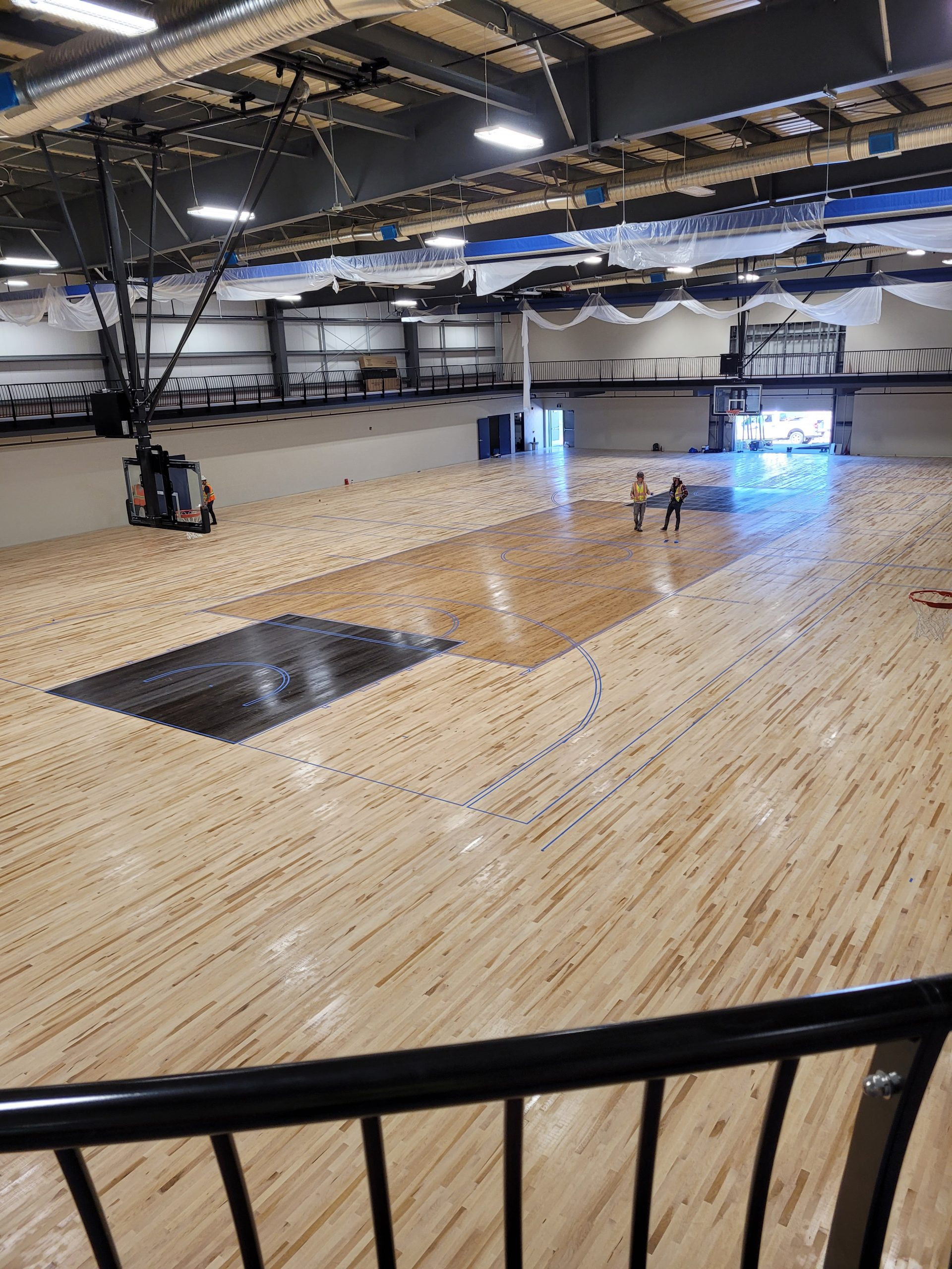 June 2021 - Fieldhouse Floor Stained!