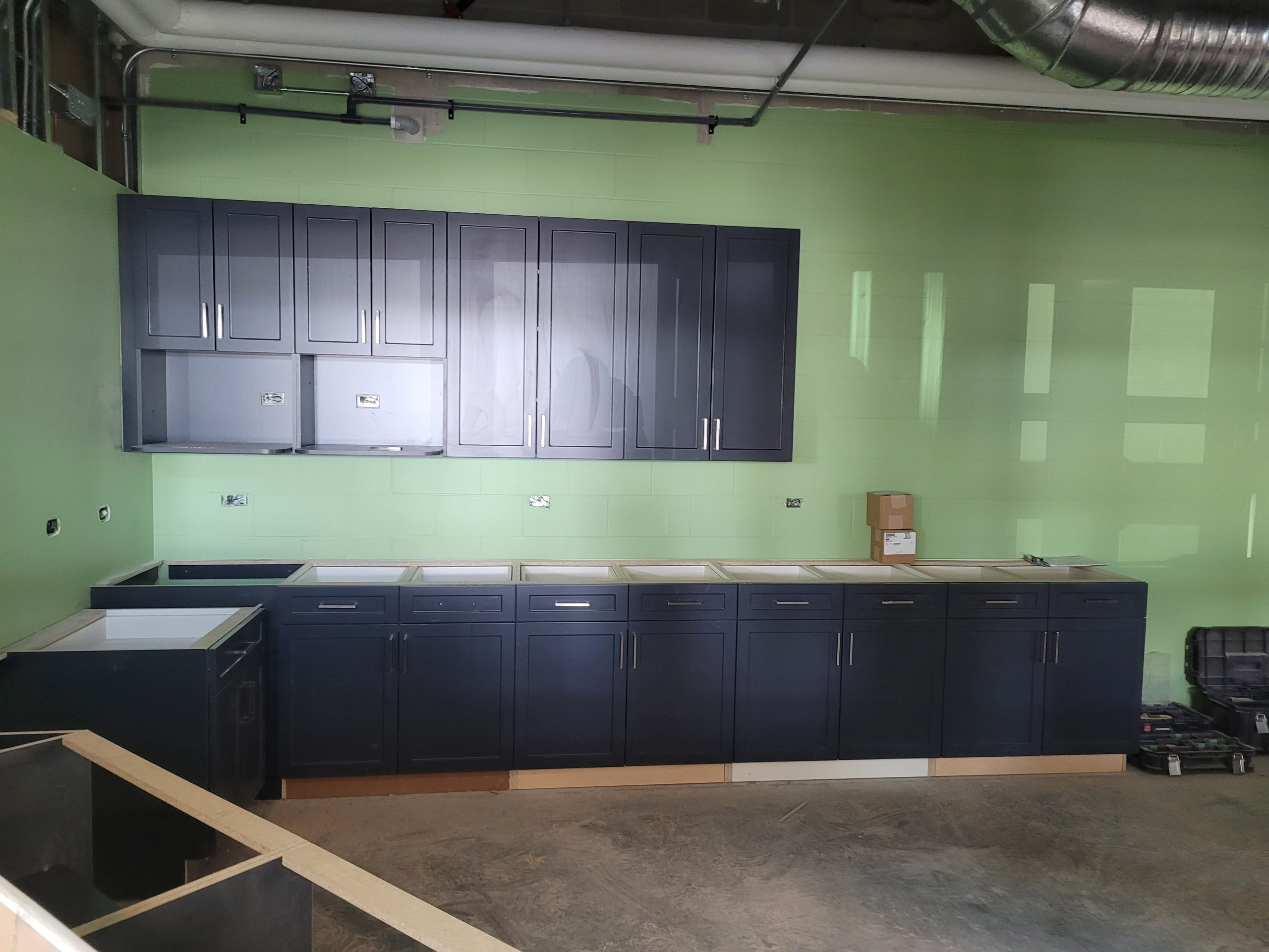 June 2021 - Canteen cupboards are in!
