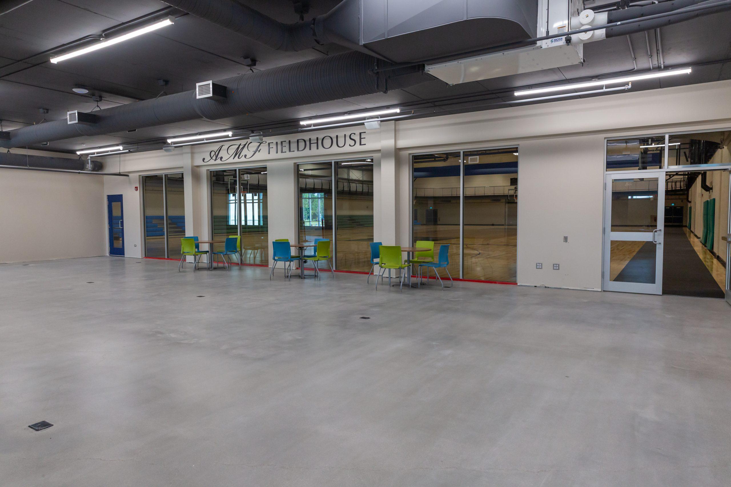 July 2021 - Fieldhouse side lobby